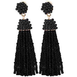 Black beaded dangling earrings so beautiful 😍 new